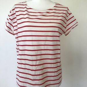 H&M Red and White Striped Shirt